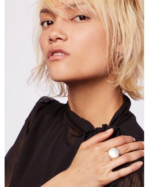 Free People | Metallic Clean Signet Ring | Lyst