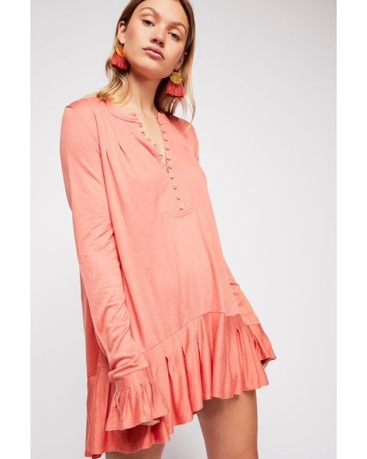 Free People - Pink Your Girl Tunic - Lyst