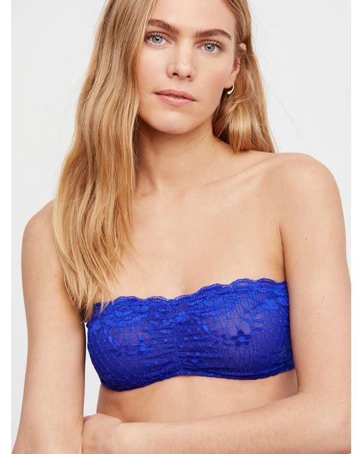 Free People - Blue Essential Lace Bandeau - Lyst