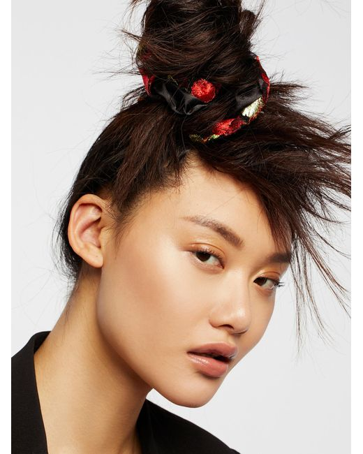 Free People   Accessories Hair Accessories Hair Ties & Headbands Embroidered Scrunchie   Lyst