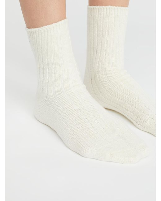 Free People - White Got Your Back Rib Crew Socks By Capelli - Lyst