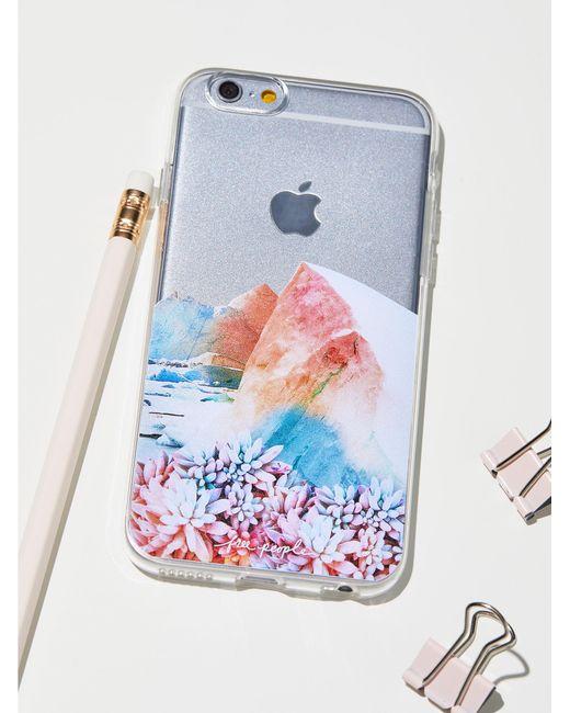 Free People | Blue Technicolor Iphone Case | Lyst
