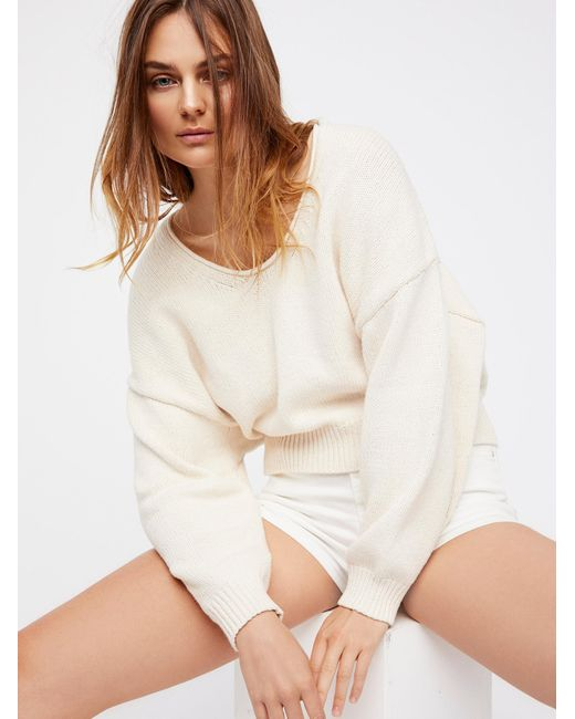 Free People   Natural Perfect Day Pullover   Lyst