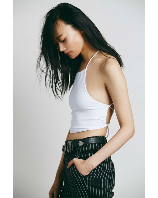 ... Free People - White Lace-up Brami By Intimately - Lyst ... 42e0ed90b