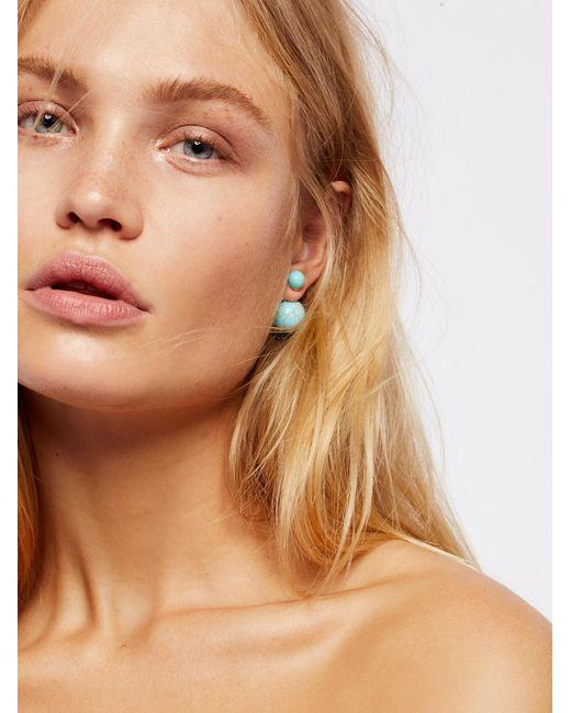 Free People - Multicolor Double Sided Orbit Stud Earrings - Lyst