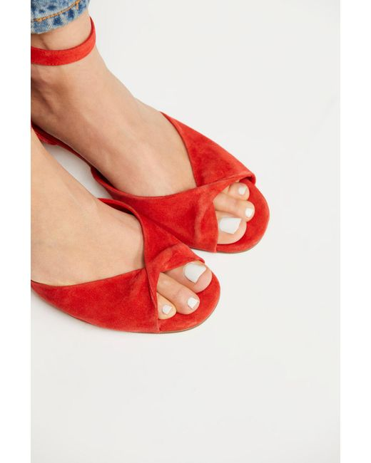 Free People - Red Gisele Block Heel By Fp Collection - Lyst