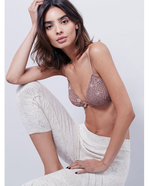 Free People - Pink Essential Triangle Bra - Lyst