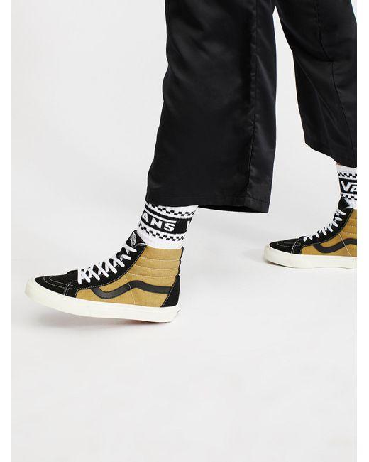Free People | Black Sk8-hi Reissue Vintage High Top Sneaker | Lyst