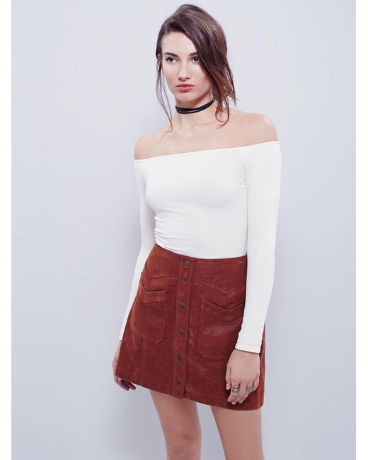 Free People - White Off -the-shoulder Solid Top - Lyst