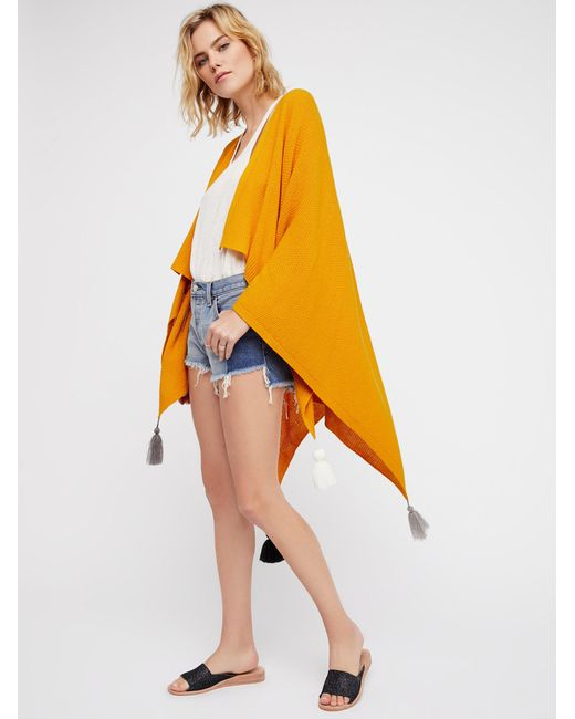 Free People | Yellow Spirit In The Sky Travel Scarf | Lyst