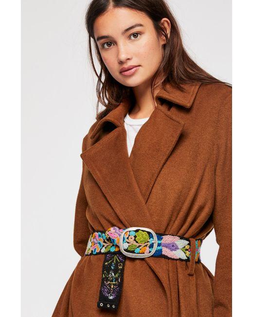 Free People - Black Cerisa Embroidered Belt - Lyst