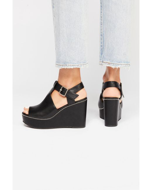 Free People - Black Vegan Darcy Wedge By Bc Footwear - Lyst