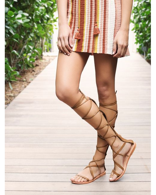 Free People | Natural Beach Bound Tall Gladiator | Lyst