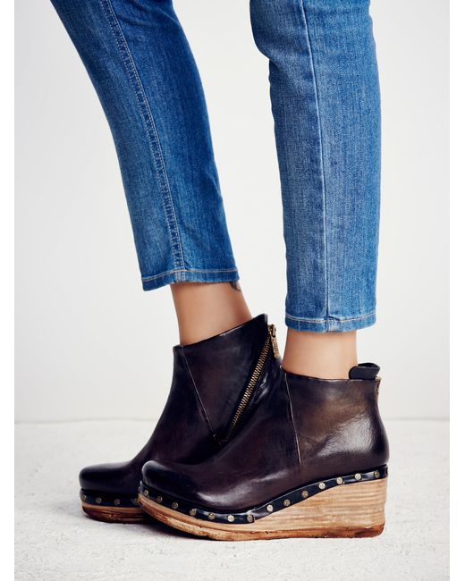 Free People Below Sunset Clog Boot In Blue Lyst