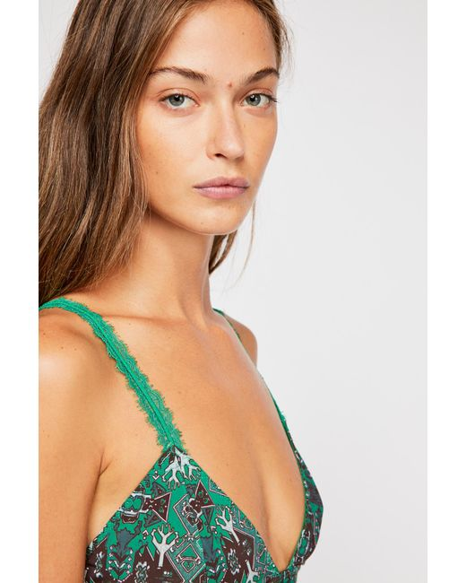 5d2ca283b2dd8c ... Free People - Green Hazel Bralette By Intimately - Lyst ...