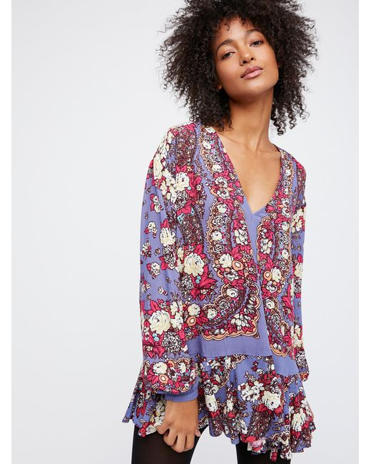Free People   Multicolor Lovely Dreams Print Tunic   Lyst