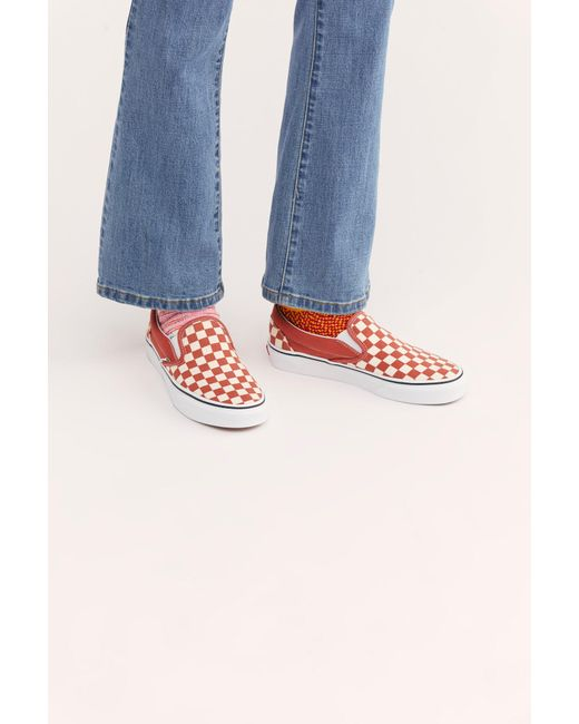 7169a44799 Free People - Multicolor Classic Checkered Slip-on By Vans - Lyst ...