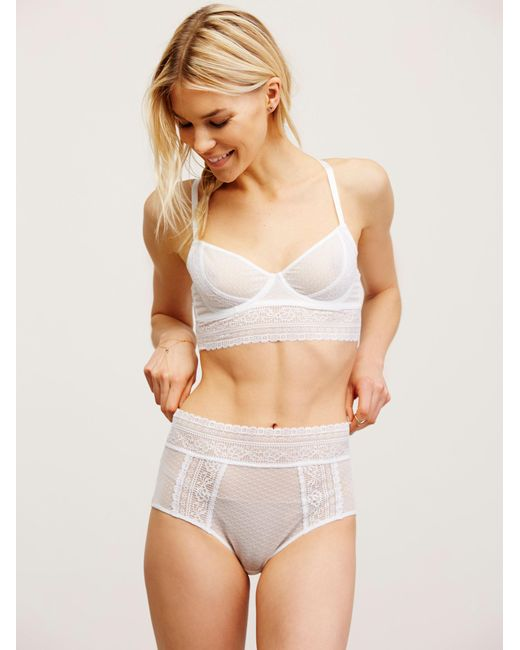 Free People - White Get Off My Cloud Knickers By Intimately - Lyst