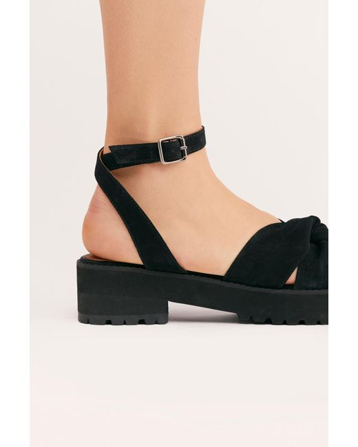 eccfe2c139d Free People - Black Essex Sandal By Fp Collection - Lyst ...
