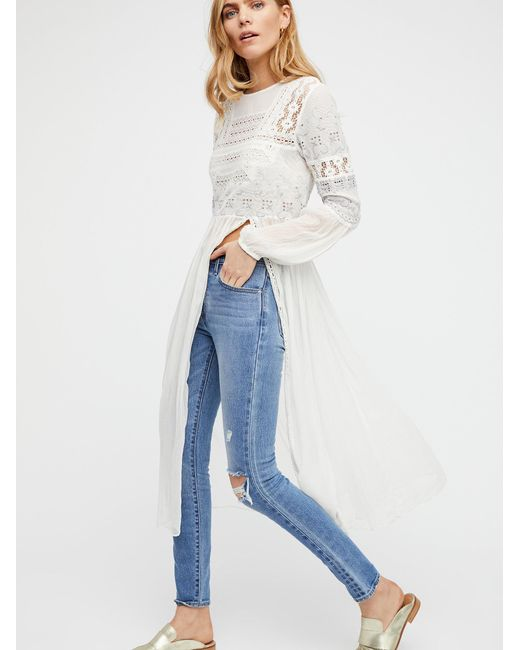 Free People   White Sweet Sunny Days Tunic   Lyst