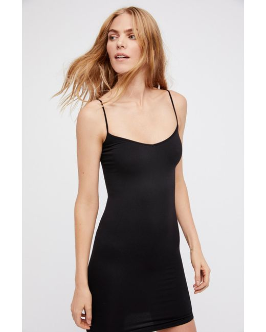 Free People - Black Seamless Mini By Intimately - Lyst