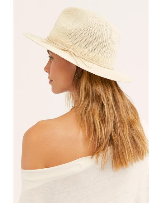Free People - White Perrie Woven Hat - Lyst