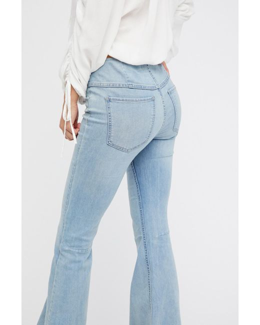 best service attractive & durable innovative design Women's Blue Penny Pull-on Flare Jeans By We The Free