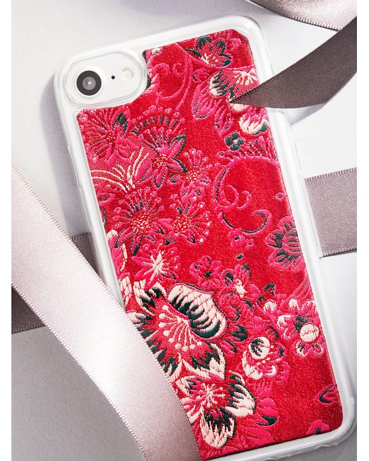 Free People | Red Kimono Iphone Case | Lyst