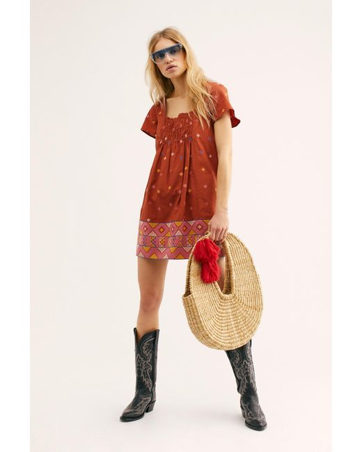005ce7a97eab Free People - Multicolor Desert Winds Embroidered Mini - Lyst ...
