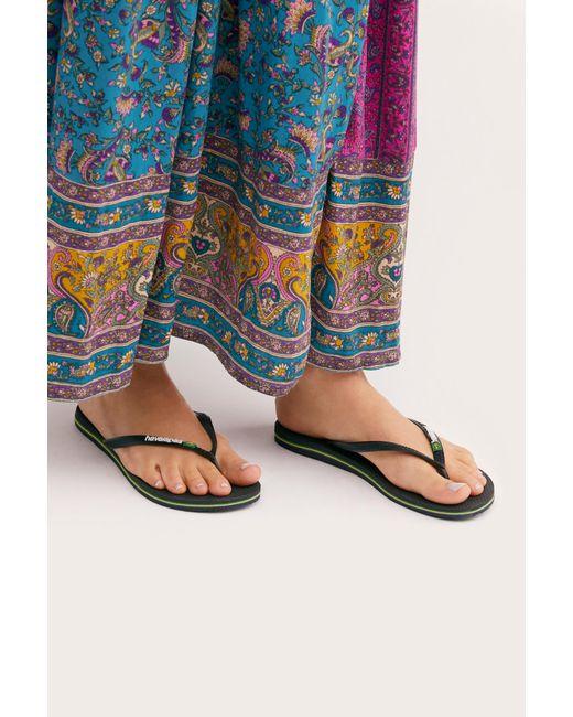 d99b4c1e287e10 Free People - Black Havaianas Slim Brazil Flip Flop Sandal - Lyst ...