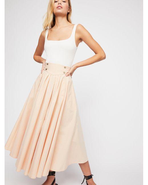 Free People - Pink Sunrise Skirt - Lyst