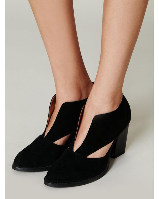Free People Deep V Ankle Boot In Black Save 26 Lyst