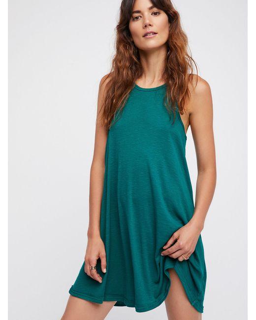 Free People | Green La Nite Mini Dress | Lyst
