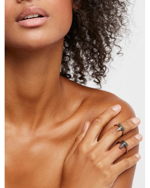 Free People | Brown Raw Stone Stack Ring | Lyst