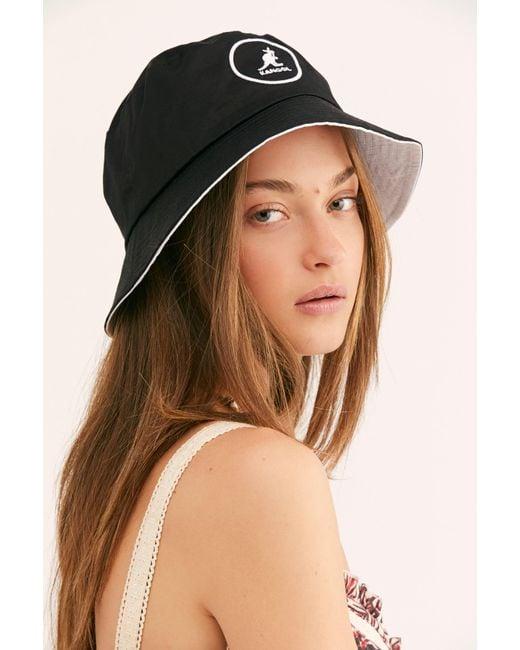Free People - Black Kangol Cotton Bucket Hat - Lyst