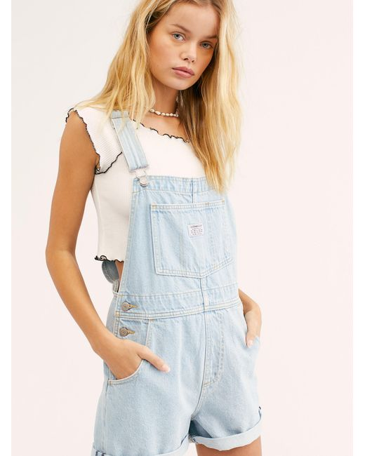 79f6dd59 ... Lyst Free People - Blue Levi's Vintage Shortalls By Levi's ...