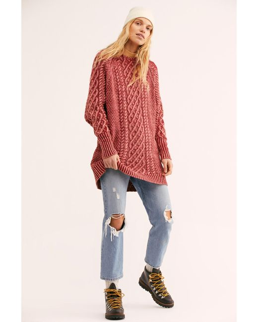 2b40ae1ac1a Lyst - Free People On A Boat Sweater Dress in Orange - Save 59%