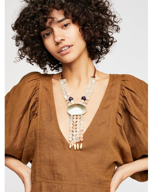 Free People - Multicolor Casablanca Stone Necklace - Lyst