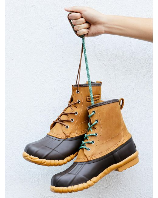 Free People | Blue Shoes Boots Weather Boots Fall Festival Duck Boot | Lyst