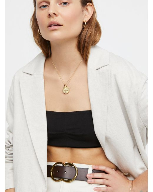 Free People - Brown Eternity Leather Belt - Lyst