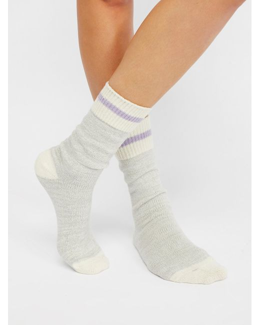 Free People - Gray Albury Crew Sock - Lyst