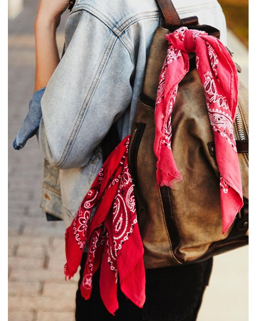 Free People | Red Fp Vintage Bandanas | Lyst