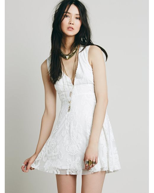Free People | White Reign Over Me Sleeveless Dress | Lyst