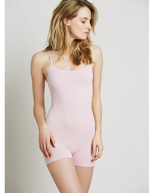 Free People | Natural Seamless Romper | Lyst