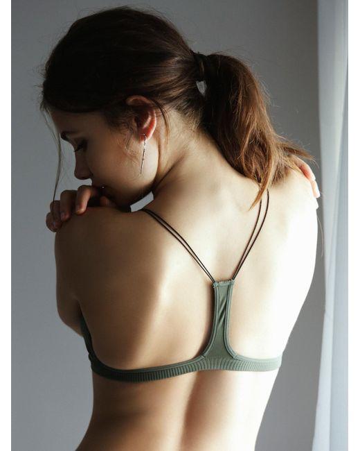 Free People   Green Skinny Strap Bralette   Lyst