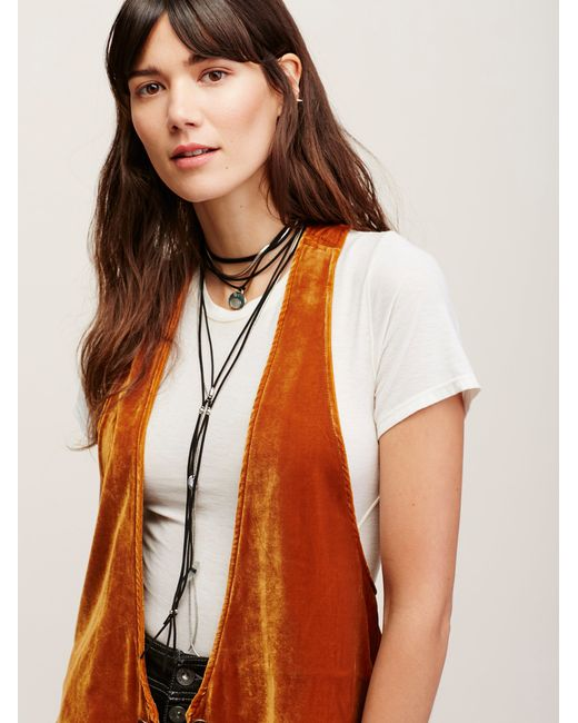 Free People | Black Southbound Leather Necklace | Lyst