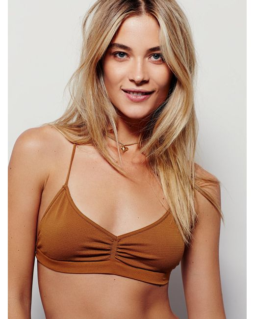 Free People | Yellow Strappy Back Bra | Lyst