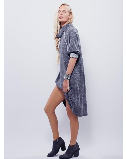 Free People | Gray Terri Cocoon Pullover | Lyst