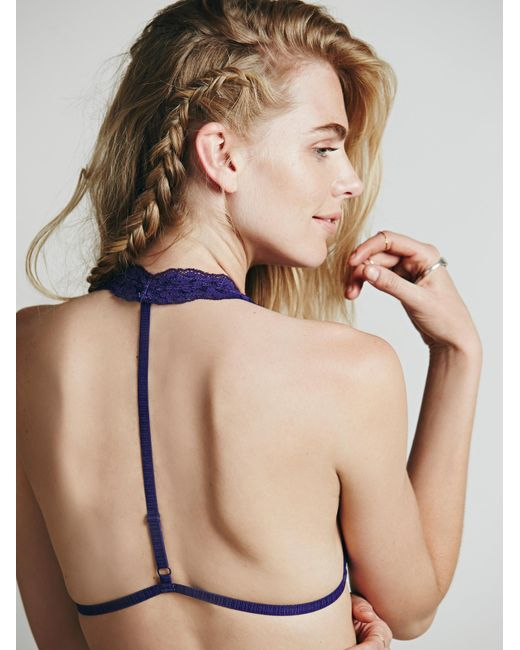 Free People | Purple Truly Madly Deeply Halter | Lyst