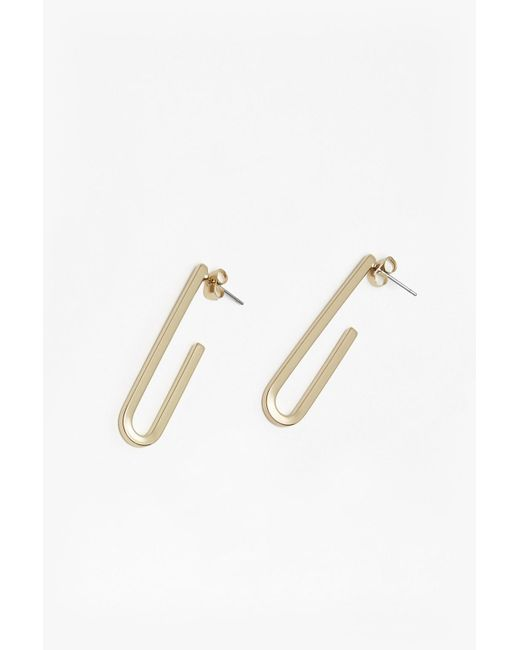 French Connection   Metallic Core Paperclip Earrings   Lyst